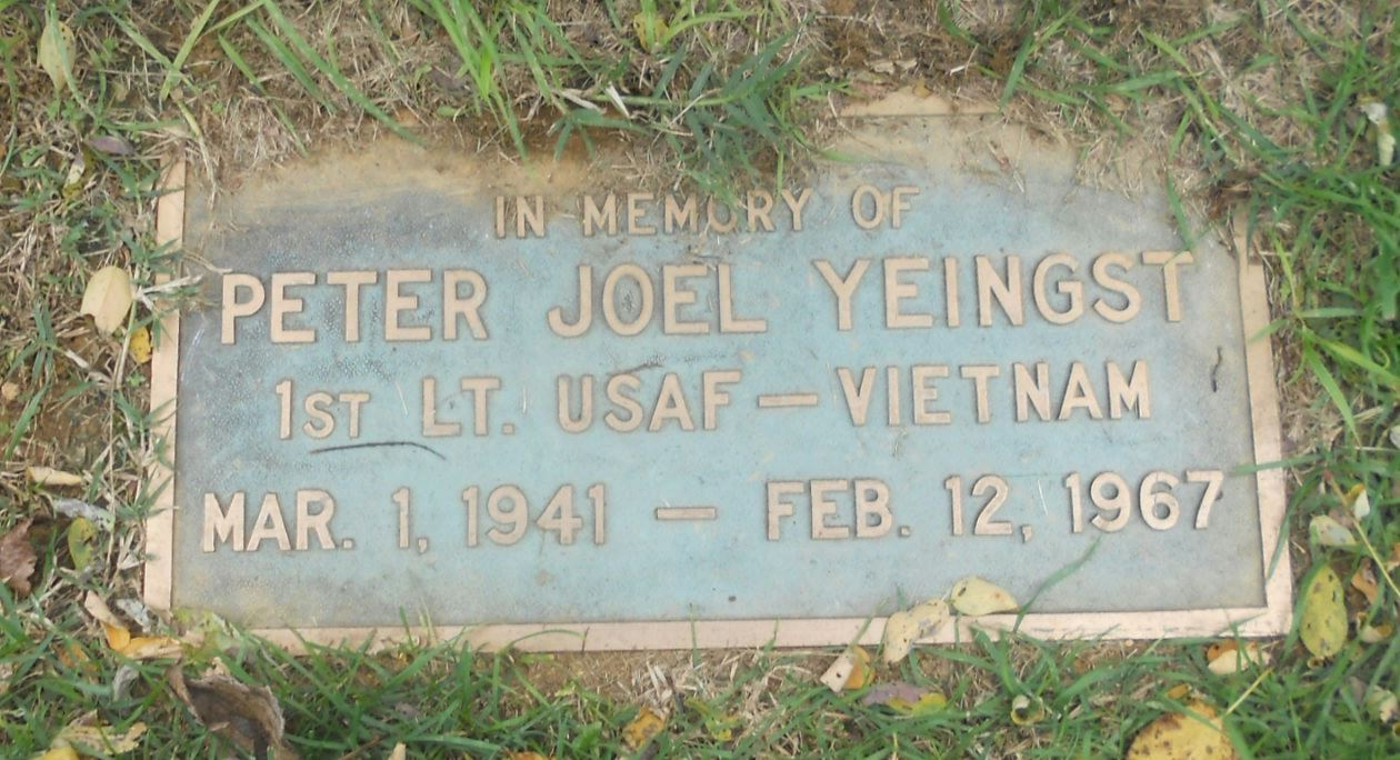 Yeingst grave marker Photo courtesy of L. Durham