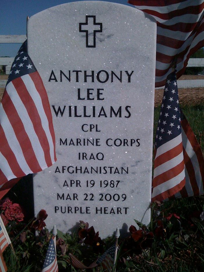 Anthony Williams Grave credit Sharon Cooper