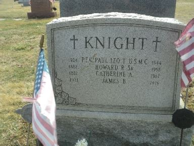 Paul Knight Grave Stone courtesy of David Welsh